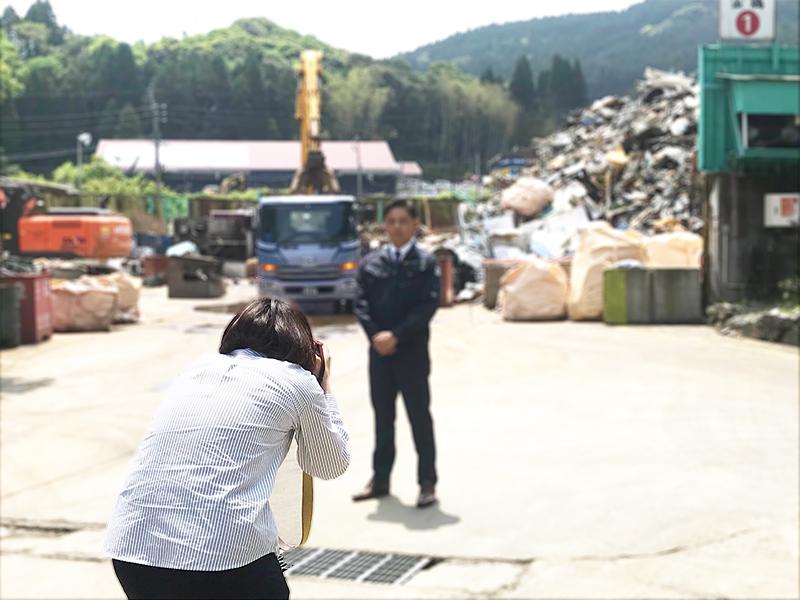 鹿児島のリサイクル業の会社さまへお伺いしました。