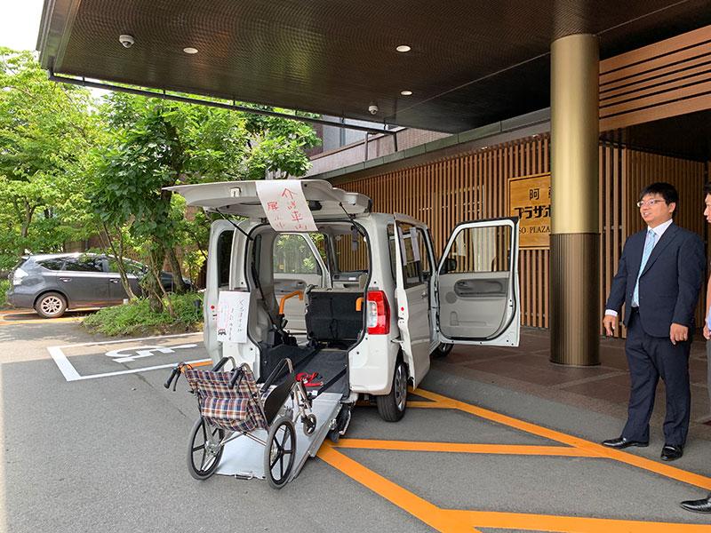 福祉車両展示
