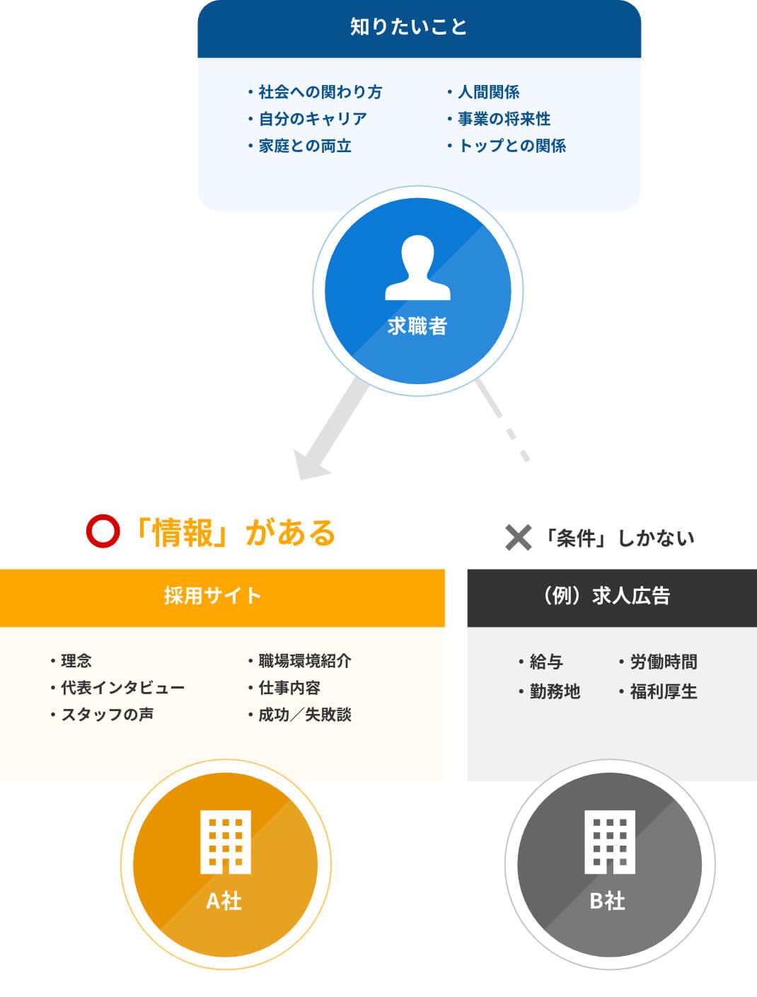 求職者が求める企業の情報